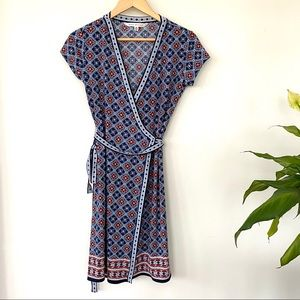 Max Studio wrap print midi dress